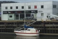 Pent fortøyd ved Maritimt kompani