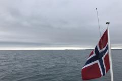 Over Frohavet mot Mausund