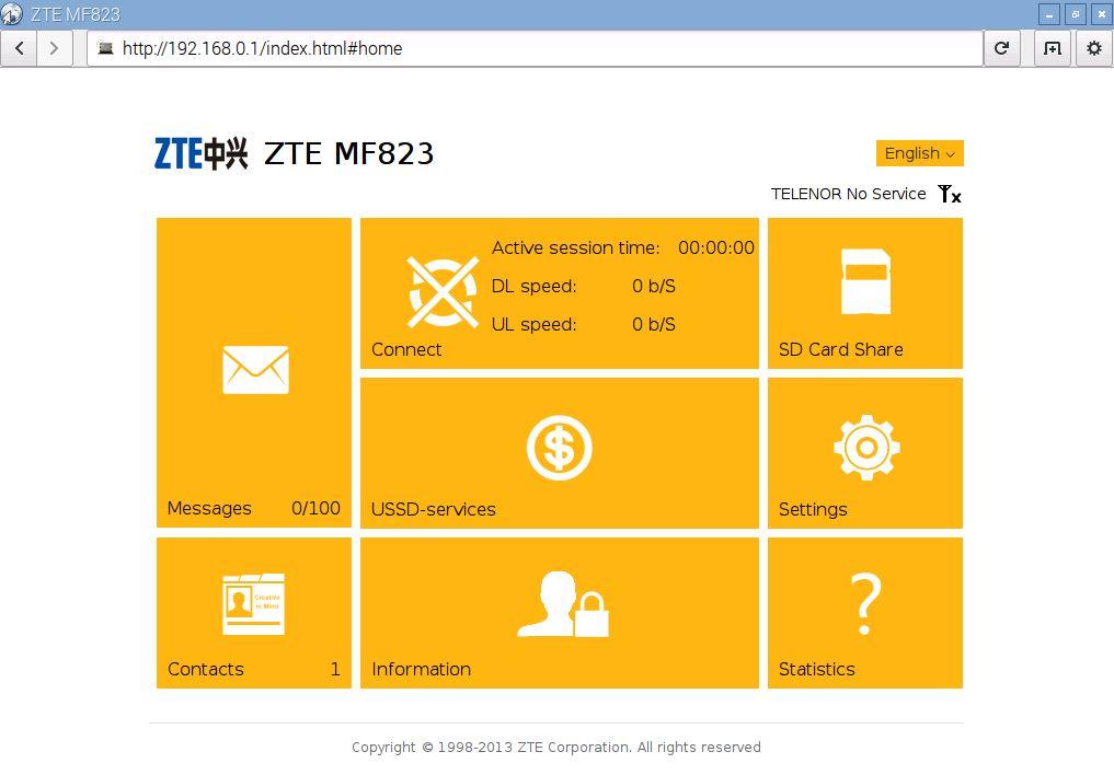 ZTE MF823 mgmt